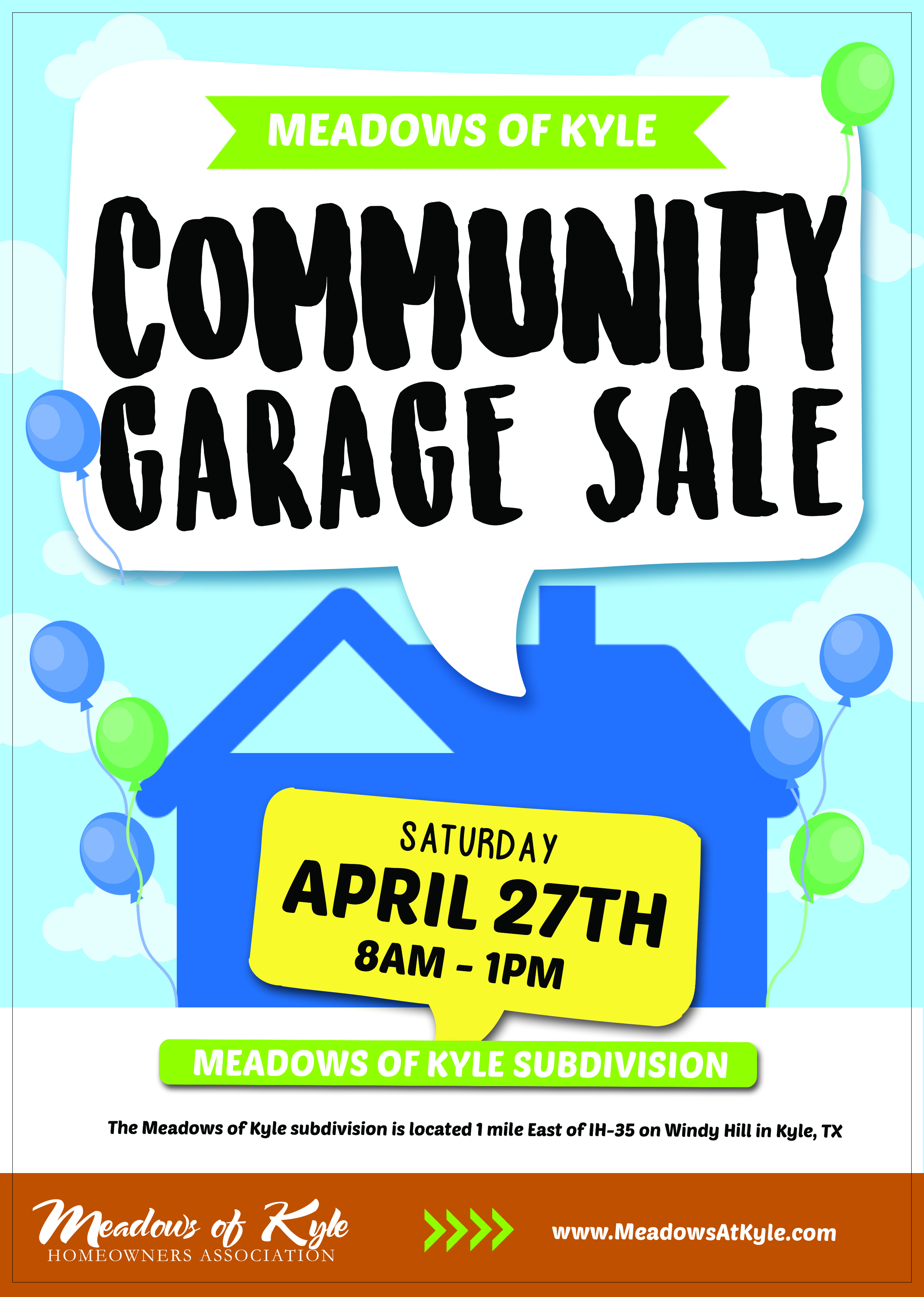 Community Garage Sale Saturday Meadows At Kyle